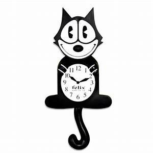 Felix the Cat Wall Clock Animated Eyes and Tail Vintage