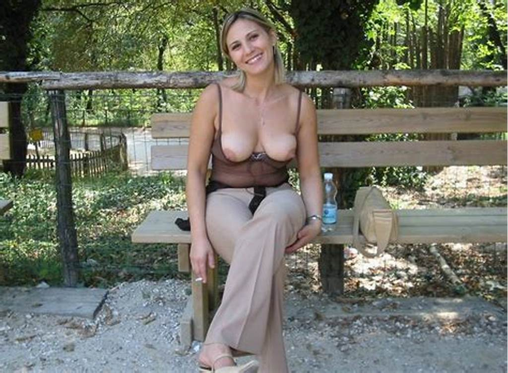 #Flashing #Tits #In #The #Park #Milf