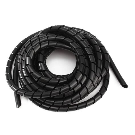 black spiral polyethylene cable electrical wire wrap computer manage cord alexnld com