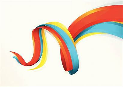 Flowing Ribbons Colorful Clip Illustrations