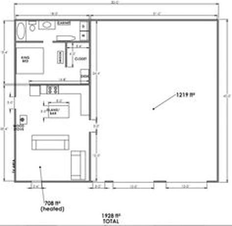 pole barn with living quarters floor plans dads cabin