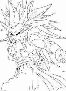 Gogeta Dragon Ball Super Saiyan 3 Coloring For Kids | Kamrin