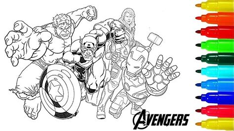 avengers coloring pages coloring  avengers squad iron