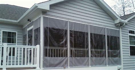 screened porch vinyl curtains soozone