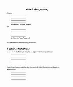 Kündigungsfrist Ohne Mietvertrag : mietaufhebungsvertrag muster aufhebungsvertrag muster ~ Lizthompson.info Haus und Dekorationen