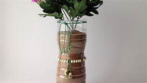 Make A Silk Flower Vase From A Plastic Bottle - DIY Home ...