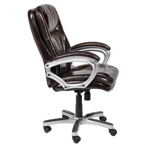 office chair in puresoft brown faux leather 43502