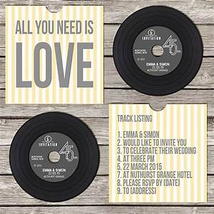 Wedding invitations images vinyls vinyl on music lovers for Etsy vinyl wedding invitations