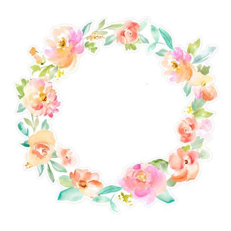 flower wreath svg cut file angie  stock shop