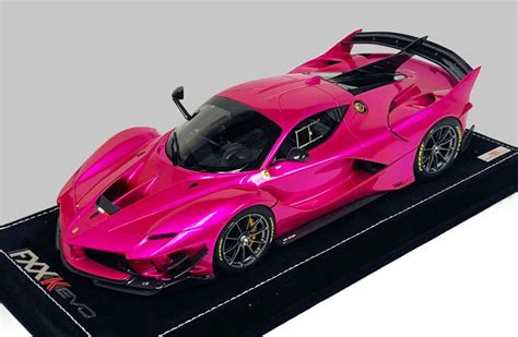 We may earn a commission through links on our site. MR Collection 1:18 Ferrari FXX-K Evo Flash Pink Titanium Wheels