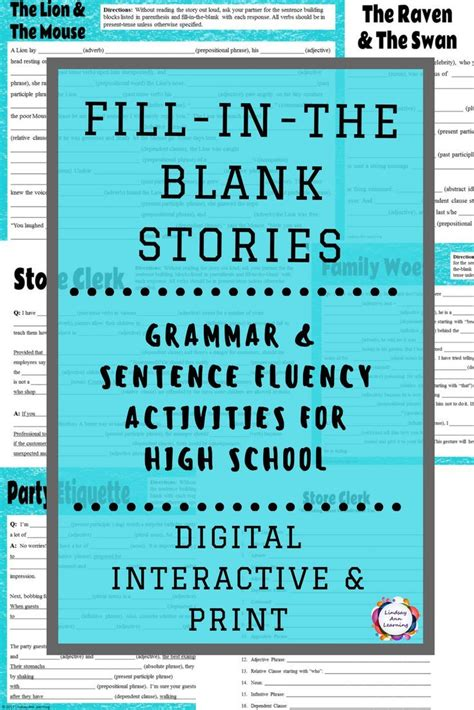 sentence structure writing activities using phrases and