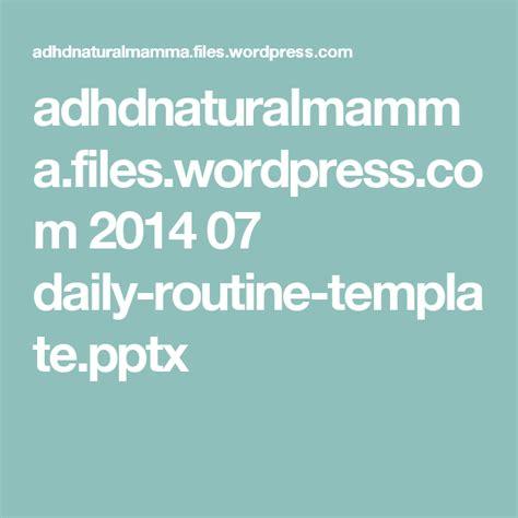 adhdnaturalmammafileswordpresscom   daily routine