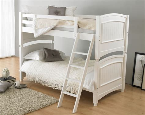 bunk beds colonial white wooden bunk bed
