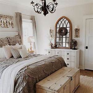 50, Awesome, Farmhouse, Bedroom, Decor, Ideas, And, Remodel