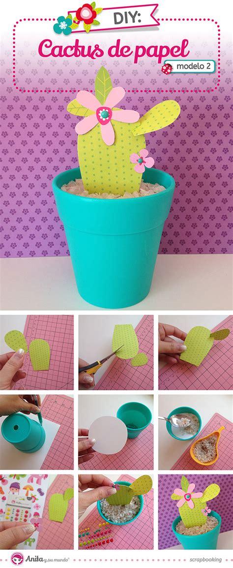 paso a paso como hacer mini cactus de porcelana fria c 243 mo hacer cactus de papel scrap
