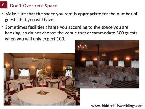 inexpensive wedding reception venues