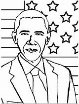 Obama Coloring Barack President Pages Printable Michelle 44th History Month Drawings Presidents Sheet Line Kidsplaycolor Quotes Template Sheets Drawing Activities sketch template