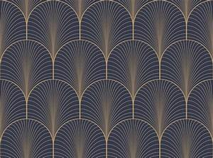 Papier Peint Art Nouveau : vintage tan blue and brown seamless art deco wallpaper ~ Dailycaller-alerts.com Idées de Décoration