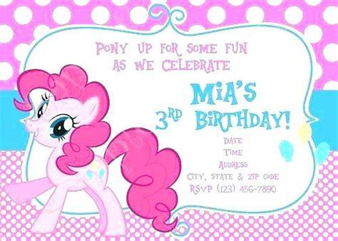 My Little Pony Party Invites Printable Free Birthday