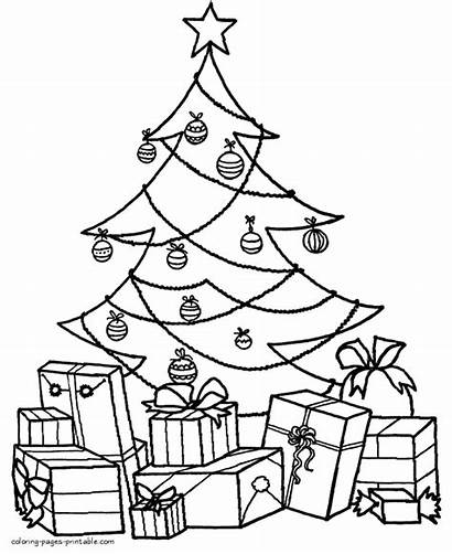 Coloring Tree Christmas Pages