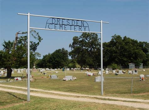 dresden cemetery dresden navarro texas usa genealogy