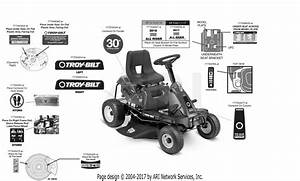 Troy Bilt 13ac21jd011 Tb30r Hydro  2017  Parts Diagram For