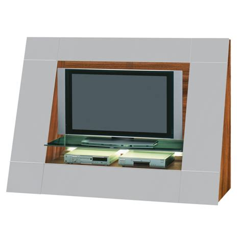 Tvwand Luxor 2000 Sl Selection  Hochglanz Grau Nussbaum