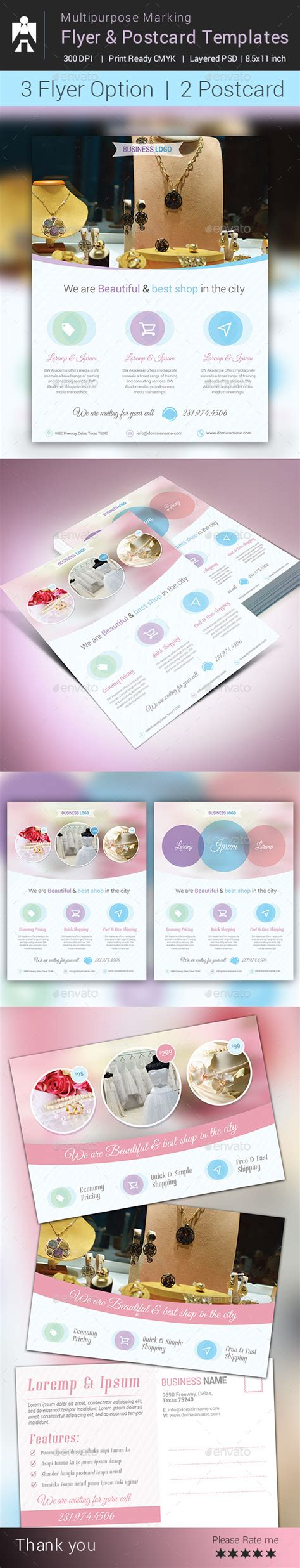 postcard template graphicriver spa marketing postcard flyer vol 2 187 dondrup