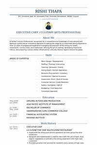 executive chef resume samples visualcv resume samples With chef resume sample