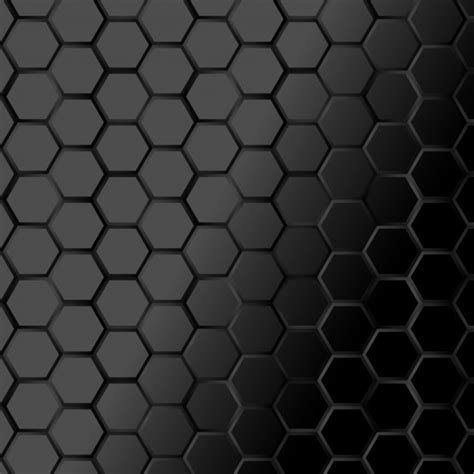 Abstract Black Texture Background Hexagon by Black Hexagone Texture Background Vector Premium