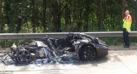 Flaming Lamborghini! Supercar Causes Traffic Chaos On M25