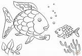 Coloring Fish Rainbow Printable Scale Popular sketch template
