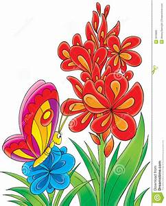 clipart flower butterfly - Clipground