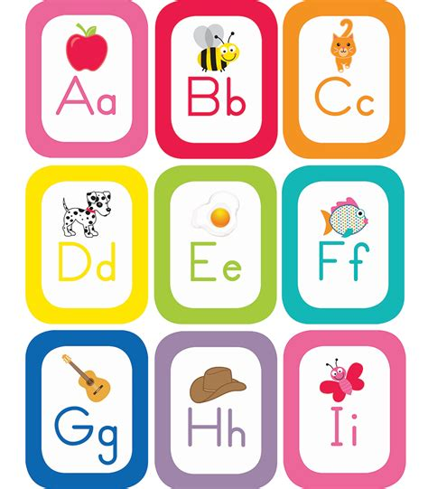 free printable letters just teach alphabet cards with images printable bulletin 31511