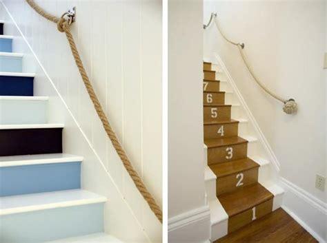 re escalier en corde escalier en cours de relooking lambris naturel clair esprit vacances
