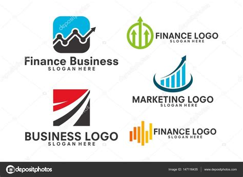 Business, Marketing, Finance Logo Set