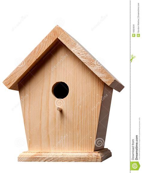 pine birdhouse stock image image 16924041