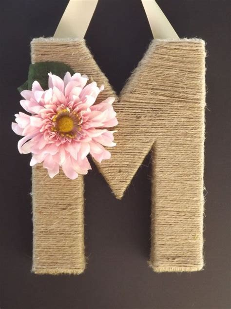 blooming diy monogram letter ideas