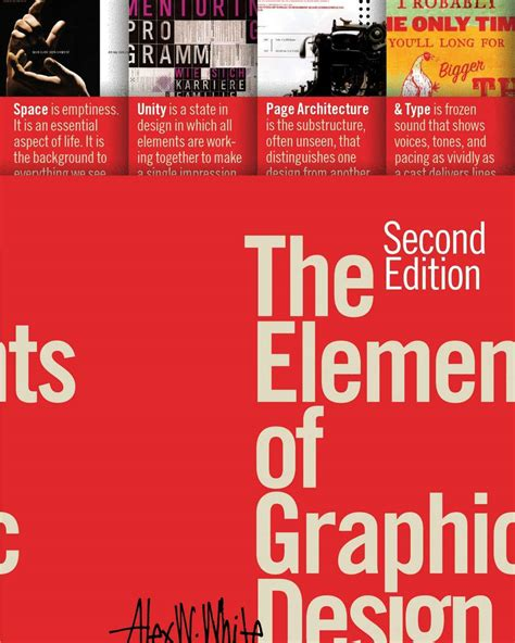 graphic design books the elements of graphic design by alex white