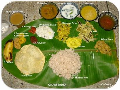 Sadya Onam Dishes Kerala Items Feast Festival