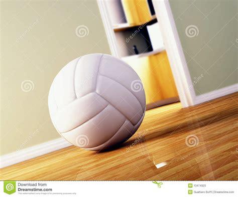 wood ball floor l volley ball on wood floor stock photos image 13474323