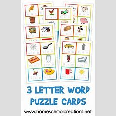 Three Letter Word Cards  Free Printable