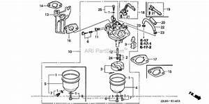 Honda Engines Gx160k1 Ar  A Engine  Jpn  Vin  Gc02