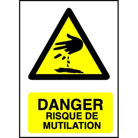 plaque de porte bureau panneau danger risque de mutilation stocksignes