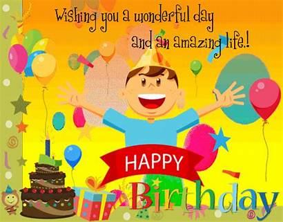 Birthday Happy Wishes Kid Ecard Card Greeting