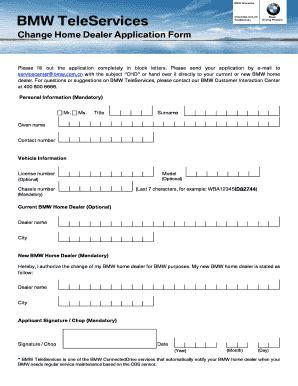 Bmw Application by 19 Printable Application Forms Templates Fillable