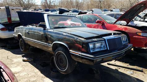 Chrysler Car :  1982 Chrysler Lebaron Convertible