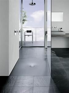 receveur douche extra plat salle bain moderne accueil With salle de bain design avec receveur extra plat 140x90