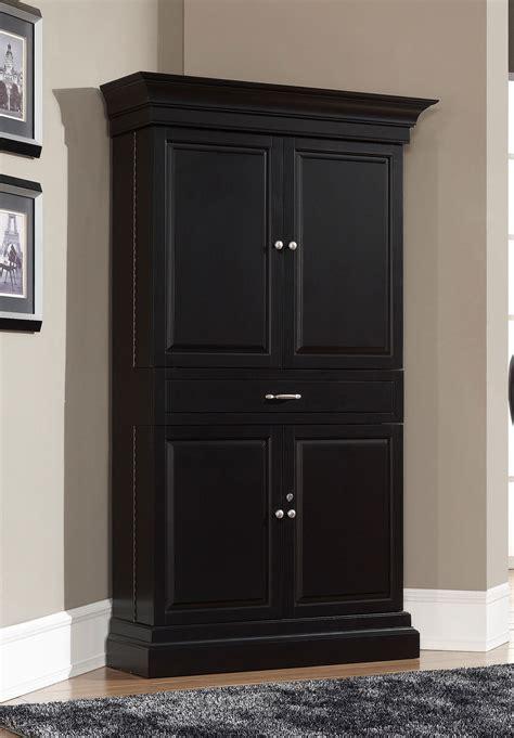 Black Corner Cupboard by Corner Linen Cabinet For Space Saving Bathroom Idea