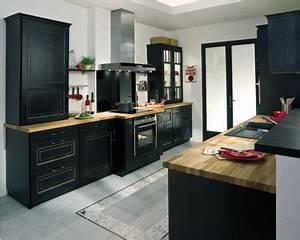 Meuble De Cuisine Noir : meuble de cuisine noir ~ Teatrodelosmanantiales.com Idées de Décoration